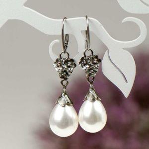 Kolczyki Z Bialymi Perlami Elza