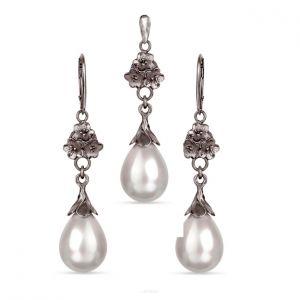 Komplet Srebrny Z Perłami Seashell Liliana  396 Zł Artseko