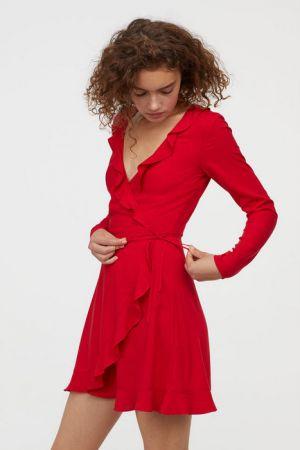 Kopertowa Sukienka Z Falbanami 79,99 H&M
