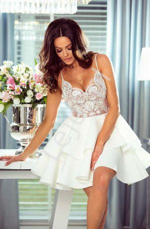 Krótka Sukienka Z Piankową Spódnicą