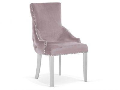 Krzesło Pikowane Palace Chesterfield Stelaż Biały
