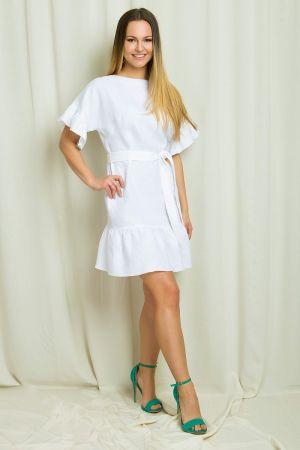 Lniana Sukienka Z Falbankami Www.bombshe.com 390,00 Zł
