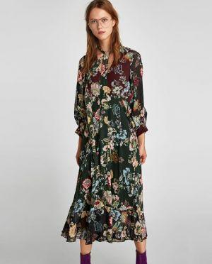 Luźna Sukienka Z Nadrukiem Zara 249,00zł