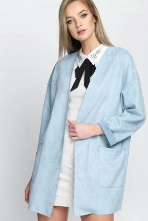 Niebieski Płaszcz Covering 109,90 Zł