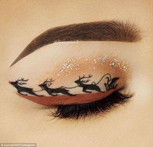 Oryginalny Makijaż Na Święta Pinterest (11)