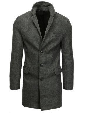 Płaszcz Męski Jednorzędowy Ciemnoszary 299,99 Zł