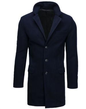 Płaszcz Męski Jednorzędowy Granatowy 299,99 Zł