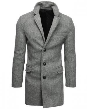 Płaszcz Męski Jednorzędowy Jasnoszary 299,99 Zł