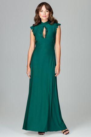 Rozkloszowana Sukienka Maxi - Zielona 179,00