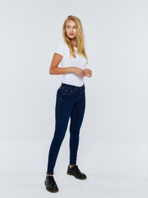 SPODNIE JEANS DAMSKIE LEGGINGS PUSH UP AMELA