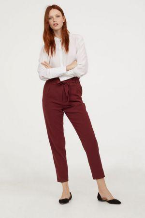 Spodnie Z Marszczoną Talią H&M 77,90 Zł