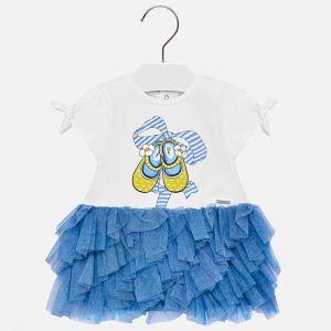 Sukienka Mayoral łączona Z Tiulem Dla Dziewczynki