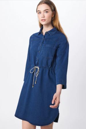 Sukienka Koszulowa Wiązana W Pasie