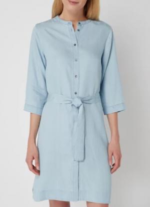 Sukienka Koszulowa Z Jasnego Denimu