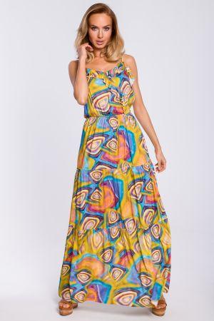 Sukienka Maxi Na Ramiączkach Z Nadrukiem 229,00 Zł