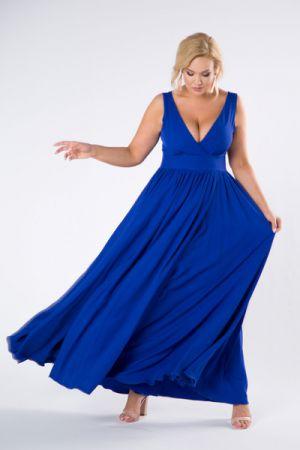 Sukienka Maxi Z Kopertowym Dekoltem 188 Zł