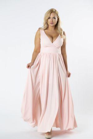 Sukienka Maxi Z Kopertowym Dekoltem I Efektownym Rozporkiem Z Przodu 188 Zł