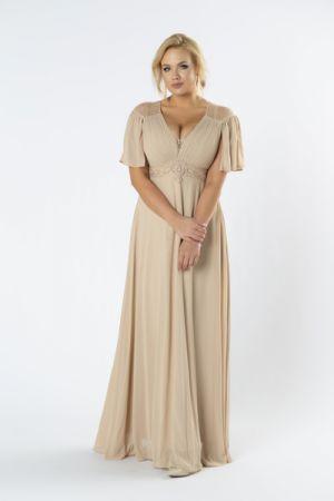 Sukienka Maxi Z Koronkową Wstawką Na Plecach 416 Zł
