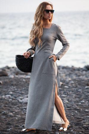 Sukienka Maxi Z Rozcięciem Na Udo  159,00 Zł