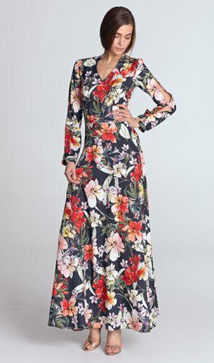 Sukienka Maxi Z Wycięciami Na Rękawach Www.nife.pl 249,00 Zł