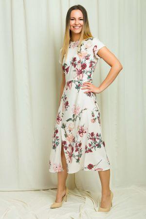 Sukienka Midi W Kwiaty Www.bombshe.com 330,00 Zł