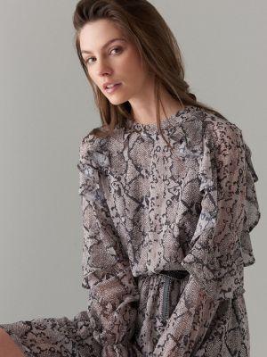 Sukienka Mini Z Motywem Wężowej Skóry Mohito 155,99 Zł