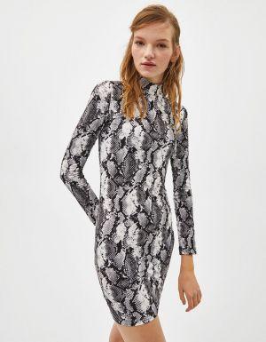 Sukienka W Wężowy Wzór Bershka 69,00 Zł