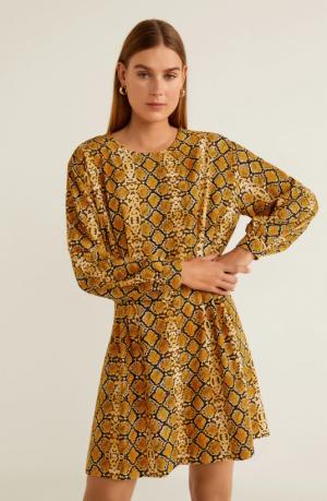 Sukienka Z Wężowym Wzorem Mango 139,90 Zł