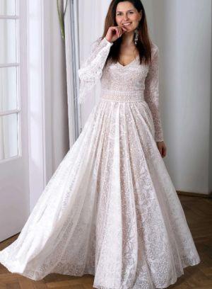 Suknie ślubne Z Długim Rękawem W Stylu Boho (13)