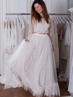 Suknie ślubne Z Długim Rękawem W Stylu Boho (2)
