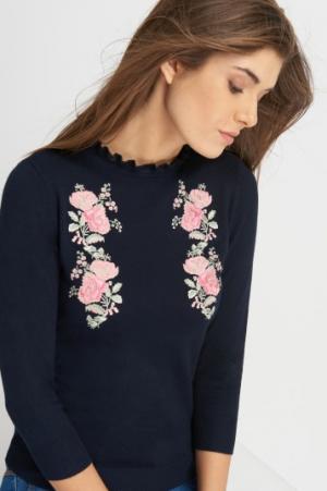 Sweter Granatowy Z Haftem Orsay 79,99 Zł