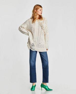 Sweter Z Frędzlami Zara 139,00 Zł