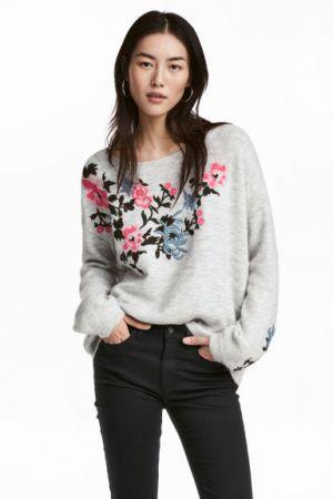 Sweter Z Haftami H&M 149,90