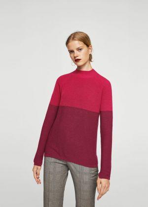 Sweter Z Kontrastową Wstawką Mango 119,00 Zł