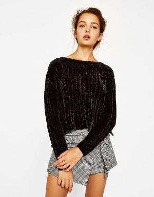 Sweter Z Szenili  Bershka 89,90 Zł