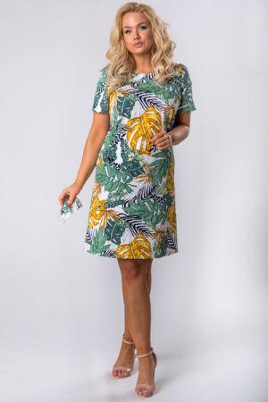 Taliowana Sukienka W Liście 217 Zł