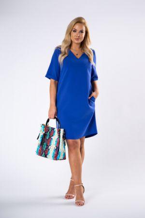 Trapezowa Sukienka Z Dekoltem W Serek 157 Zł