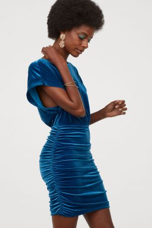 Welurowa Sukienka 149,99 Zł H&M