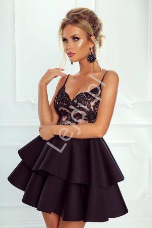 Wieczorowa Sukienka Z Piankową Spódnicą