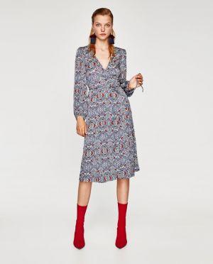 Akardowa Sukienka Zara 199,90 Zł