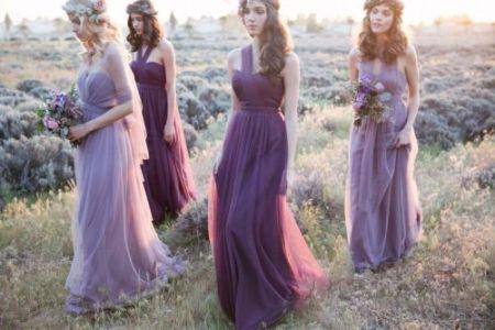 Druhny w sukniach lawendowych