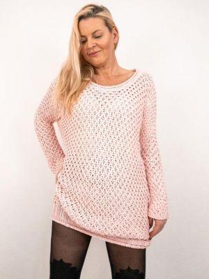 Różowy Sweter 99,99 Zł