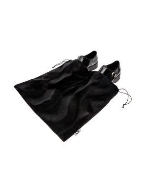 Worek Dwukomorowy Na Buty Czarny Sztuczne Futro