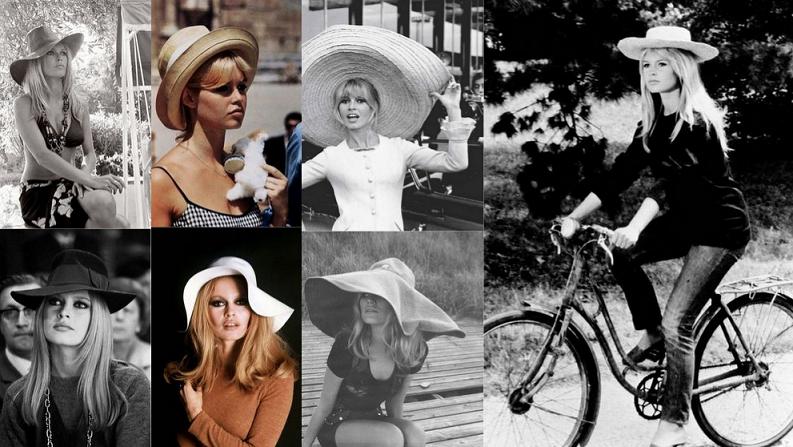 Brigitte Bardot kapelusze