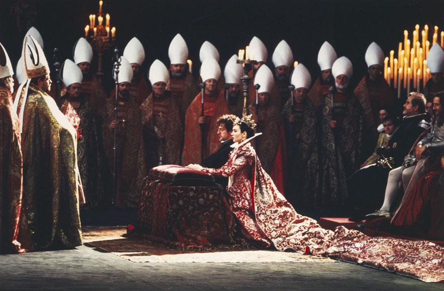 Daniel Auteuil et Isabelle Adjani dans le film La reine Margot de Patrice Chéreau en 1994