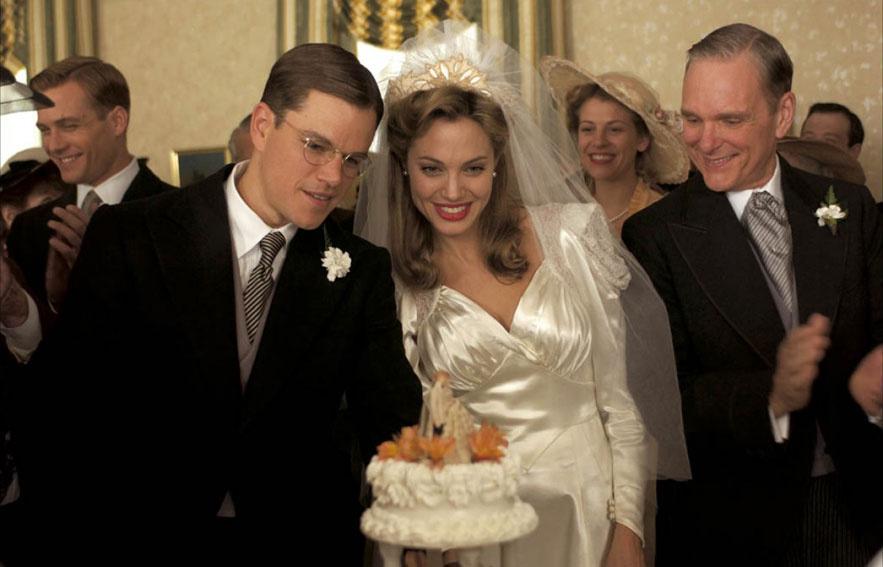 Matt Damon et Angelina Jolie dans le film Raison d'état de Robert de Niro en 2007