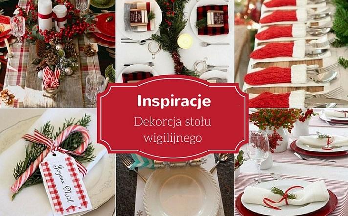 Świąteczne inspiracje - dekorcja stołu wigilijnego