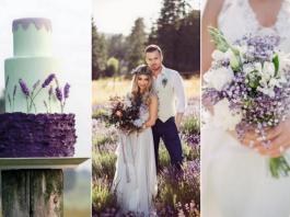 lawendowy ślub