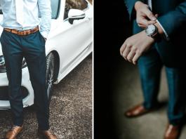 Budowa męskich spodni garniturowych