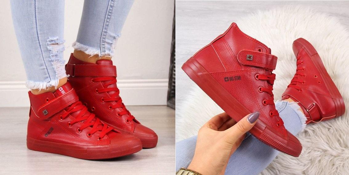 7b894a7ccb55c0 Damskie czerwone sneakersy - do czego pasują? Zobacz!